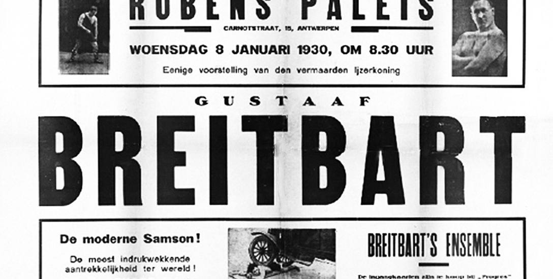 Afisz zapowiadający występy Gustawa Brejtbarta w Grajewie we wrześniu 1926 roku.
