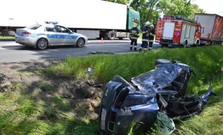 Wypadek na trasie poznańskiej w Łowiczu [ZDJĘCIA]