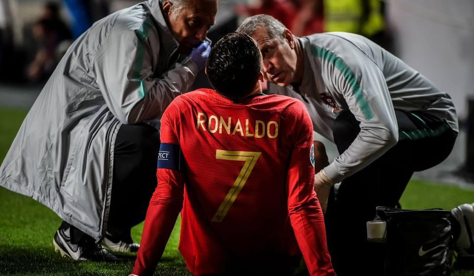 Film do artykułu: Cristiano Ronaldo kontuzjowany w meczu z Serbią. Gracz Juventusu zdąży na Ajax? [WIDEO]