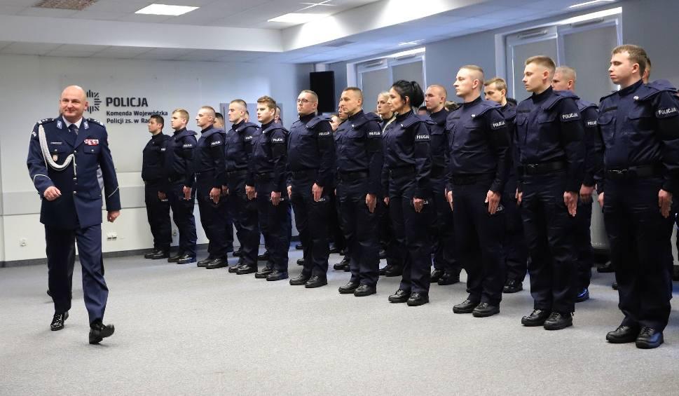 Film do artykułu: Ślubowanie policjantów. Na Mazowszu będzie służyć 55 nowych funkcjonariuszy