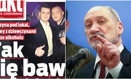 """Misiewicz bawi się w klubie. """"Fakt"""": Limuzyna, ochroniarz, proponowanie pracy w MON"""