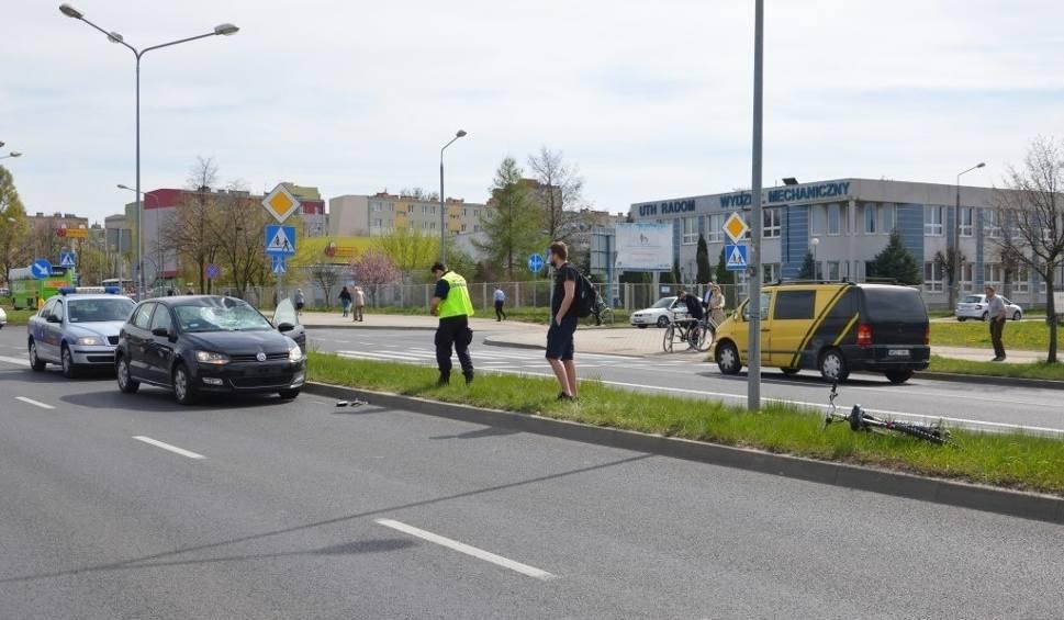 Film do artykułu: Potrącenie rowerzysty na skrzyżowaniu Maratońska / Dębowa w Radomiu. Kolejne w tym tygodniu