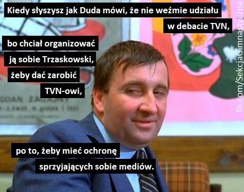 Andrzej Duda nie ma czasu. Debata TVN bez Dudy. Memy mówią ...