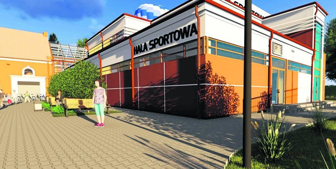 Wizualizacja nowej sali SP1, która powstanie za dwa lata, po lewej fragment starej hali