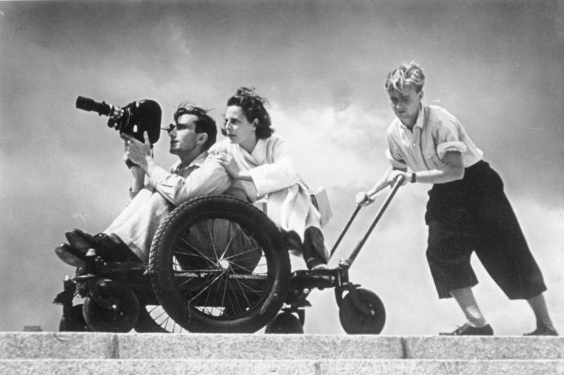 Leni na planie filmowym. 1936 rok.