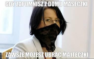 Kaja Godek i jej nietypowa maseczka podbiła internet. O aktywistce pro-life znowu głośno. Zobacz memy na kolejnych slajdach galeriiPrzesuwaj zdjęcia