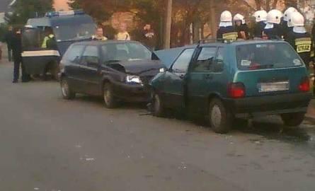 Wypadek na ul. Korfantego w Chróścicach.