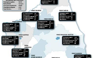 Podlaska mapa przestępczości. Kryminaliści nie próżnują, ale policja jest coraz bardziej skuteczna