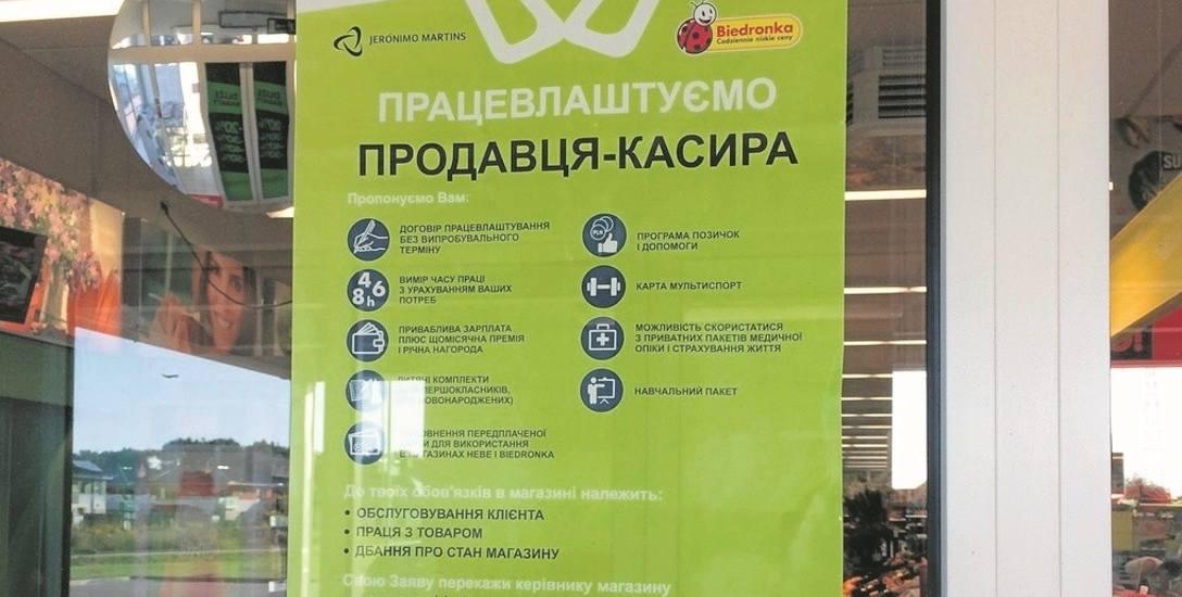 -Na Ukrainie wynagrodzenie w tej chwili jest na poziomie 3200 hrywien, co daje około 500 zł. Tam pracy brakuje, a tu praca jest. Jest to praca o wiele