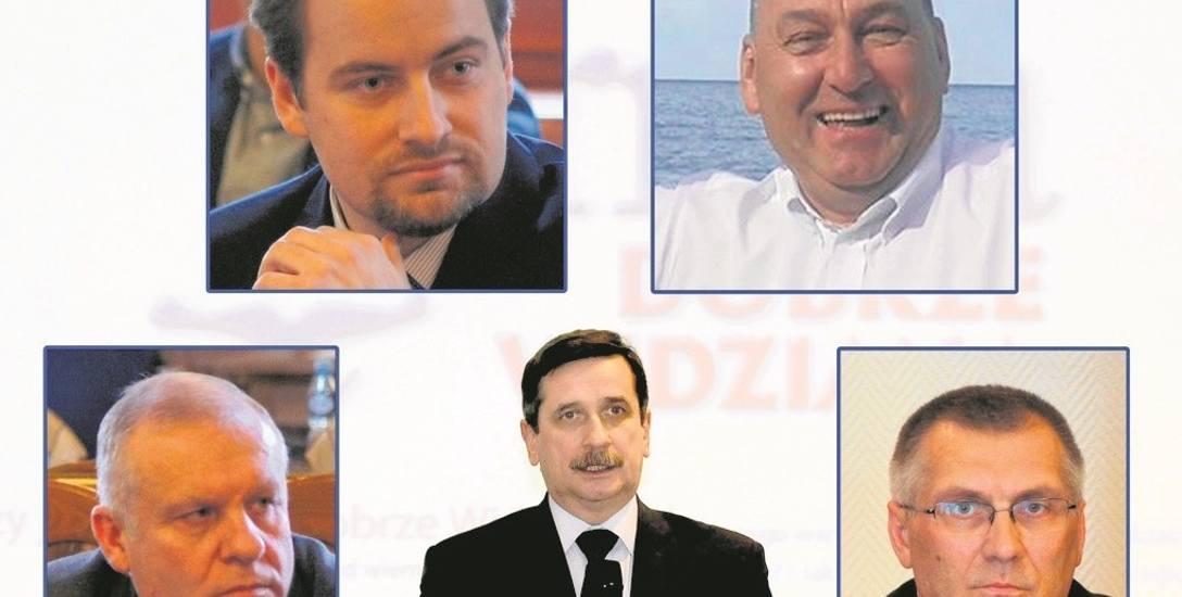 W Tarnowie prezydenta Romana Ciepielę (w środku) chcą zastąpić czterej potencjalni kandydaci PiS. Na górze od lewej: Piotr Wójcik i Janusz Gładysz, na