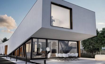 Sky house. Projekt Witolda Kucza z pracowni Monochrom z Rybnika. Dom długi na 40 metrów to śląska architektura ZDJĘCIA + WIZUALIZACJE