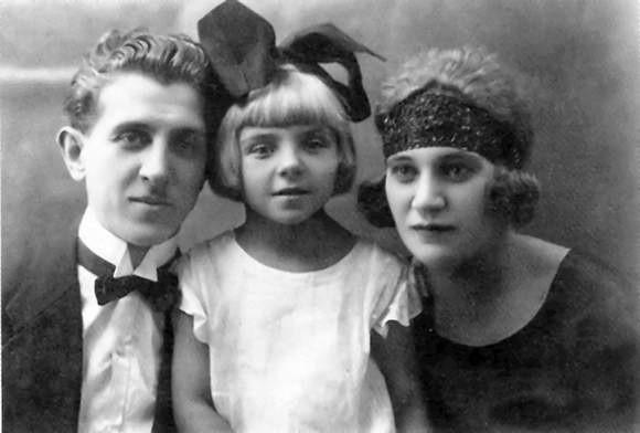 Jan Marcinkowski z pierwszą Lidią i córką Leokadią
