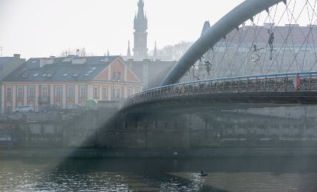 Smog w Krakowie. Podwyższony poziom stężenia pyłów