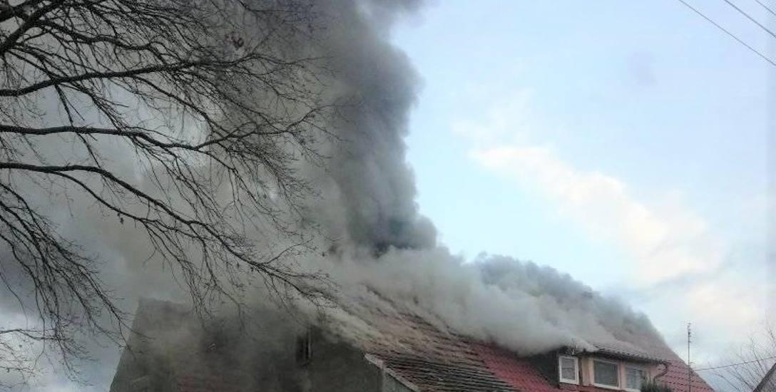 Pożar domu w Nowym Miasteczku, 13 grudnia 2019 r.
