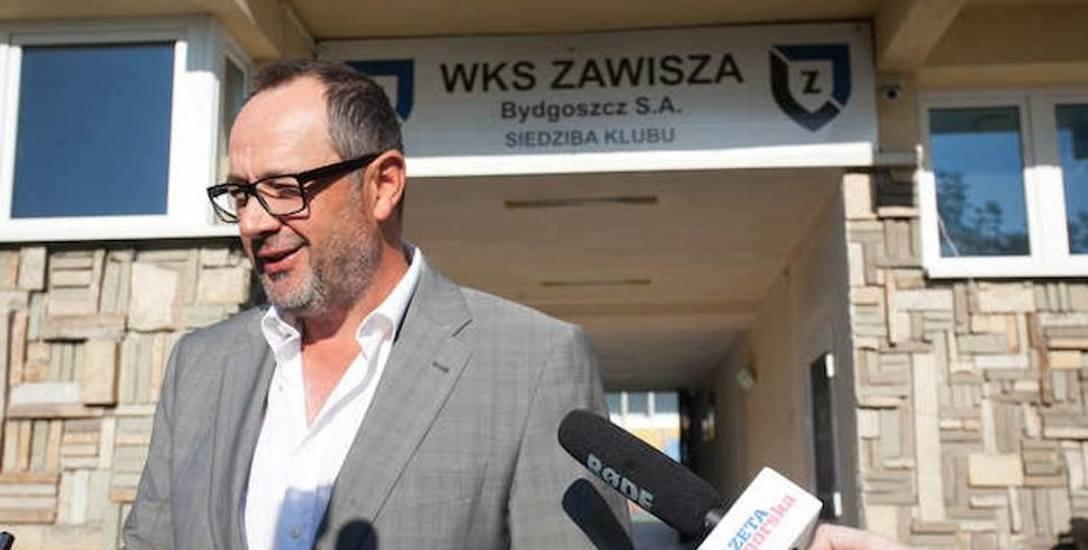 Artur Czarnecki, większościowy akcjonariusz upadającej spółki WKS Zawisza Bydgoszcz SA