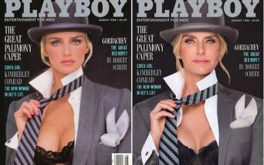 Kimberley Conrad Hefner, 1988 rokFotografowie Ben Miller i Ryan Lowry odtworzyli okładki magazynu Playboy publikowane w latach 1979-1991 udowadniając,