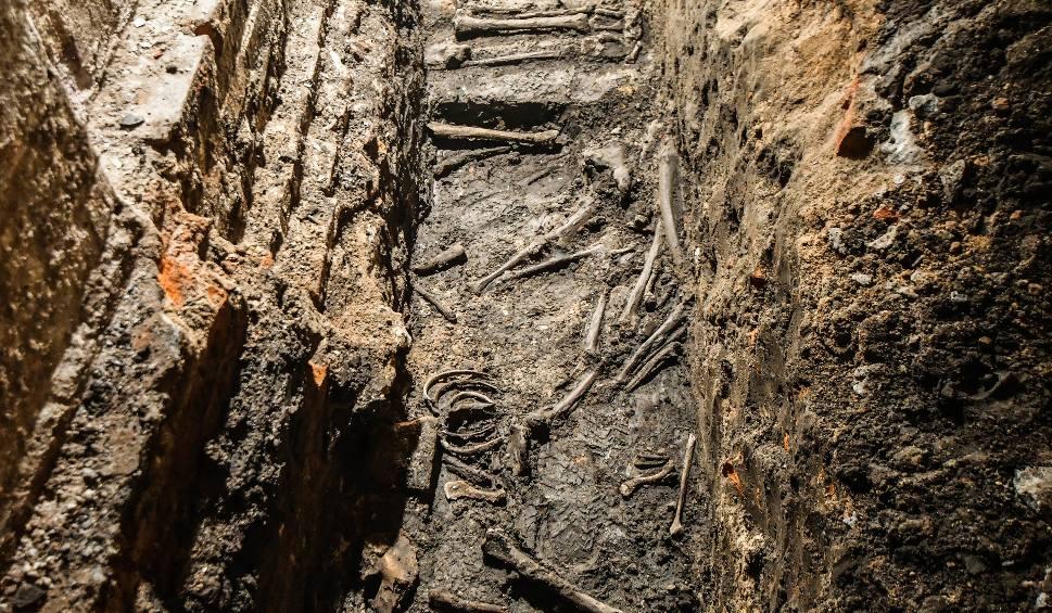 Film do artykułu: Ludzkie szczątki pod kamienicą przy rondzie Bernardyńskim w Bydgoszczy. Pod wyburzonym domem cmentarz z XVI wieku
