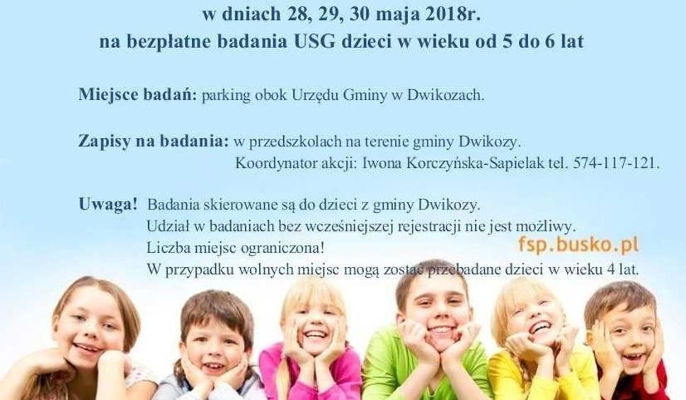 """Film do artykułu: Bezpłatne badania w Dwikozach. Z programu """"Kocham, więc badam"""" mogą skorzystać dzieci"""