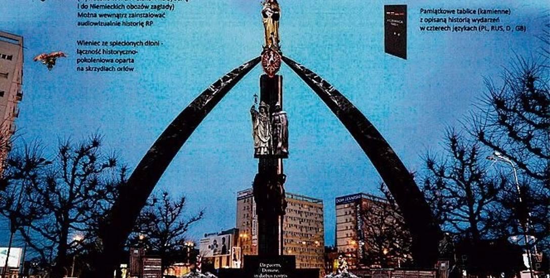 Szczecin: Pomnik Matki Bożej na sowieckim monumencie