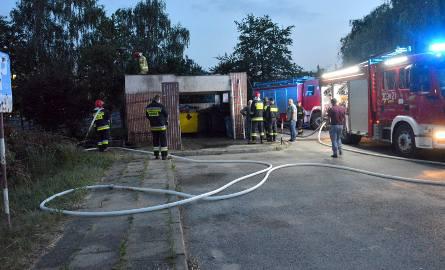 Dym nad ulicą Jagiellońską w Kielcach. Strażacy w akcji [ZDJĘCIA]
