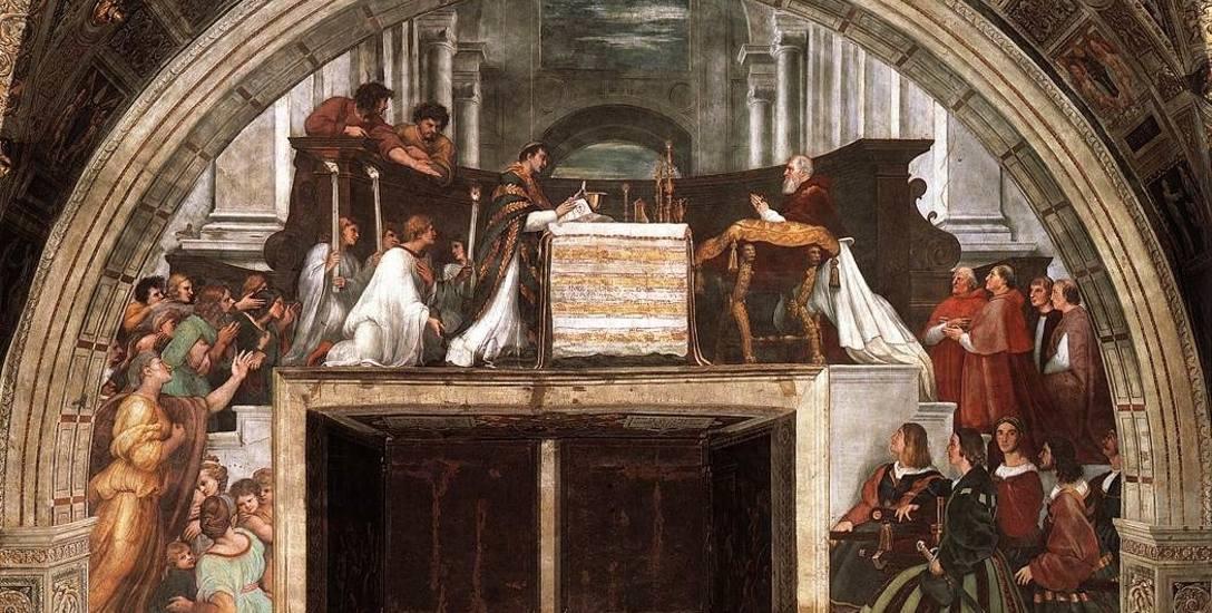 Msza w Bolsenie. Fresk Rafaela z 1512 r.