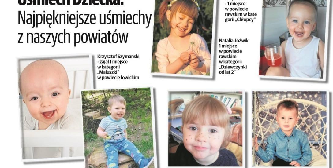 Zwycięzcy plebiscytu Uśmiech Dziecka w powiatach rawskim i łowickim