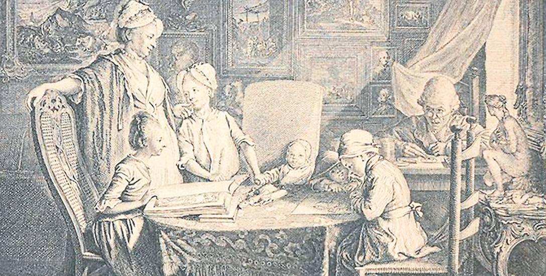 Daniel Chodowiecki miał talent trafnej obserwacji postaci i zdarzeń (Cabinet d'un peintre, 1771 r. )