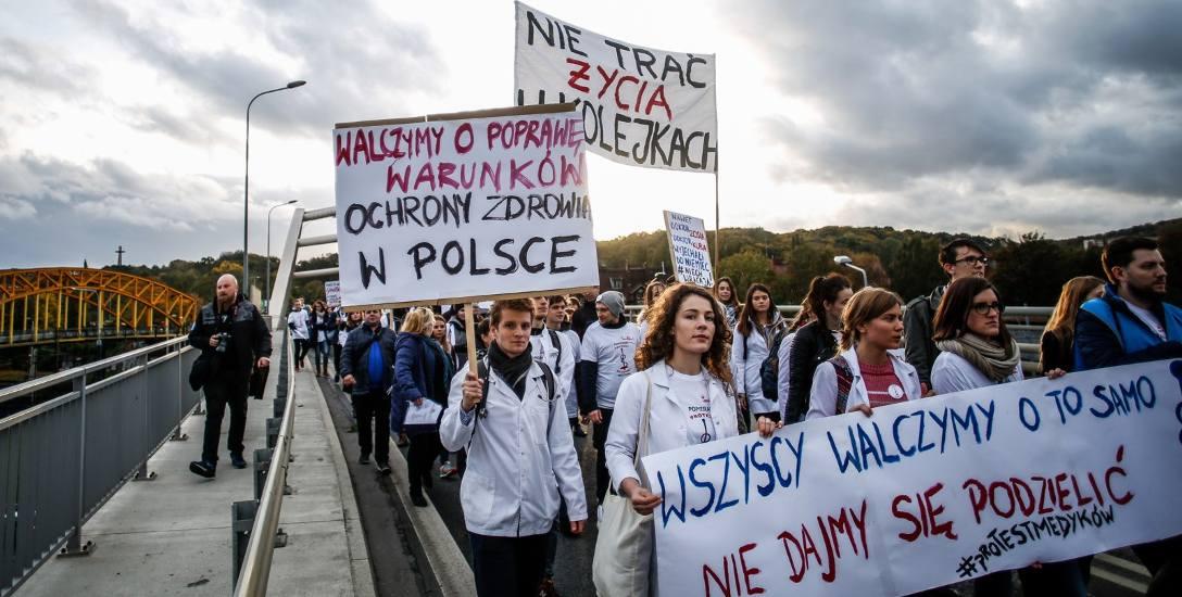Marsz medyków w Gdańsku, 26 października 2017