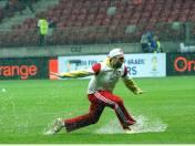 Zdjęcia z meczu, którego nie było. Stadion Narodowy pod wodą