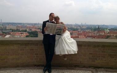 Andrzej Lerch z żoną Dorotą
