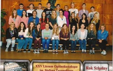 Klasa III D,  XXV Liceum Ogólnokształcące w Łodzi