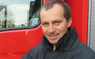 Asp. Tomasz Kos, KM PSP Bytom, nurek MSW, ratownik medyczny