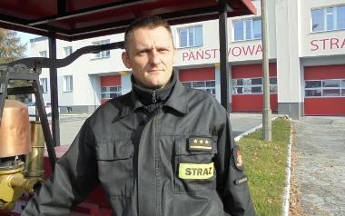 kpt. Bartosz Smolarczyk z PSP Jaworzno