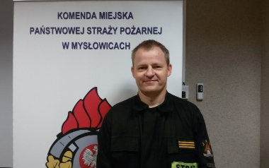 Paweł Żabicki, KM PSP Mysłowice, starszy sekcyjny