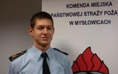 Piotr Biesiadecki, KM PSP Mysłowice, starszy ratownik pracujący na podziale bojowym