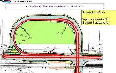 Kosmonautów - nowa pętla drogowa zamiast tunelu lub wiaduktu