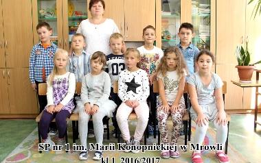 Szkoła Podstawowa Nr 1 im. Marii Konopnickiej w Mrowli - Klasa I