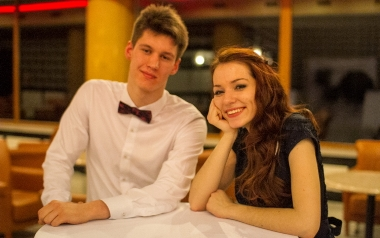 Olga Estkowska i Wojciech Węglarz z ZS 1 im. Gustawa Morcinka w Tychach