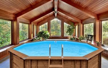 Drewniany basen ogrodowy ABATEC
