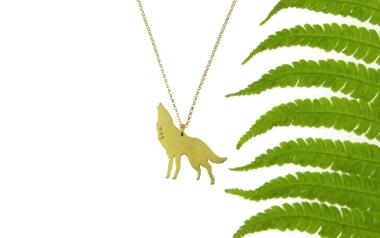 Moon-personalizowany naszyjnik z wilkiem i księżycem z kolekcji WOLF FLOW - OM jewellery design