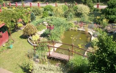 Ogród Moniki Michałowskiej w Łopacie, powiat opatowski