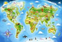 Puzzle 40 maxi. Mapa świata