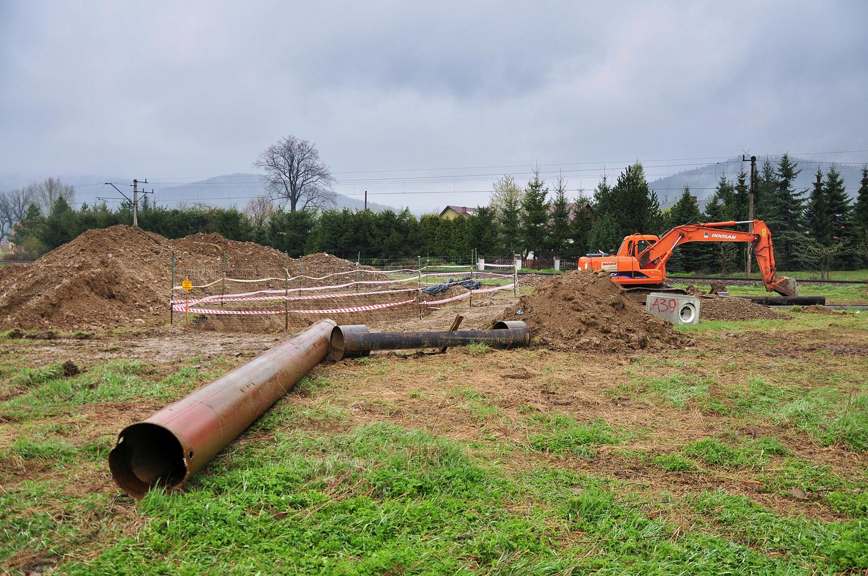System kanalizacyjny dorzecza górnej Skawy w miejscowości Białka na terenie Gminy Maków Podhalański
