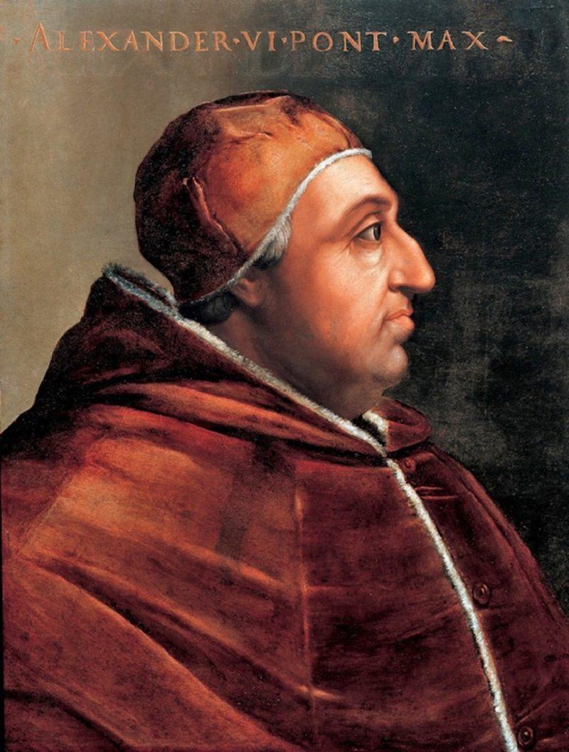 Aleksander VI miał przynajmniej siedmioro dzieci- najsłynniejszymi z nich byli Cezar i Lukrecja. Jak brzmi nazwisko rodowe tego papieża?